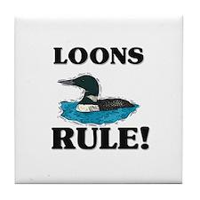 Loons Rule! Tile Coaster