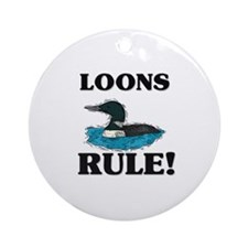 Loons Rule! Ornament (Round)