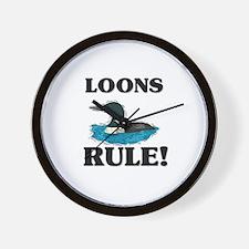Loons Rule! Wall Clock