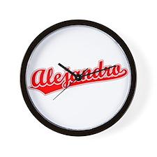 Retro Alejandro (Red) Wall Clock