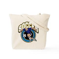 Men's Soccer Logo Tote Bag