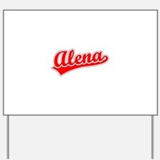 Retro Alena (Red) Yard Sign