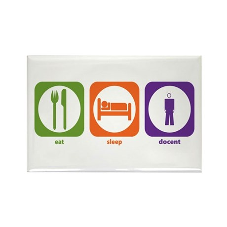 Eat Sleep Docent Rectangle Magnet (10 pack)