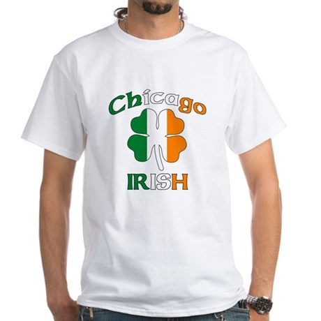Chicago Irish White T-Shirt
