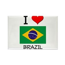 I Love Brazil Rectangle Magnet (10 pack)