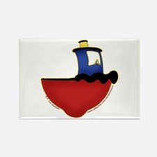 Cute Tugboat Picture 2 Rectangle Magnet