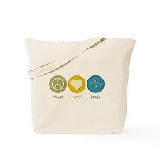 Peace Love Epics Tote Bag