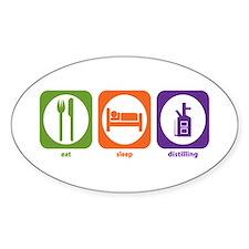 Eat Sleep Distilling Oval Decal