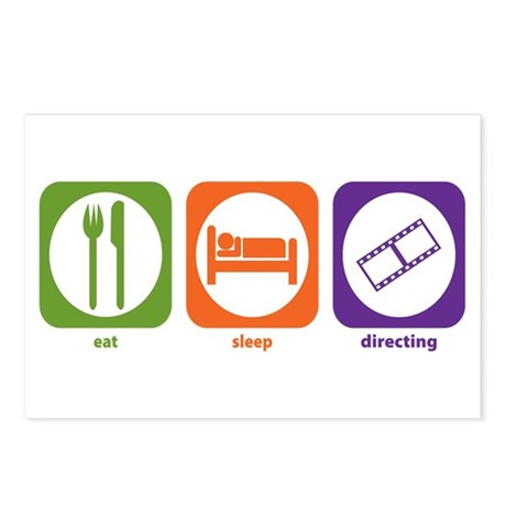 Eat Sleep Directing Postcards (Package of 8)