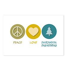 Peace Love Environmental Engineering Postcards (Pa