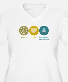 Peace Love Environmental Engineering T-Shirt