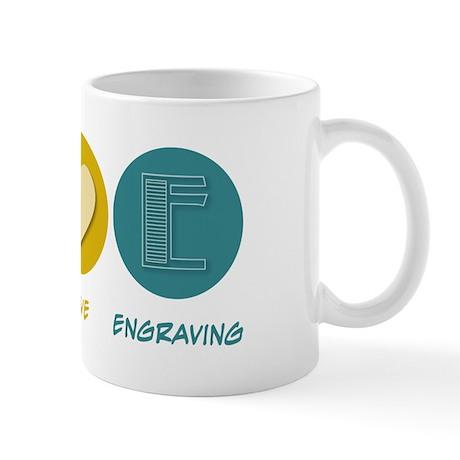 Peace Love Engraving Mug