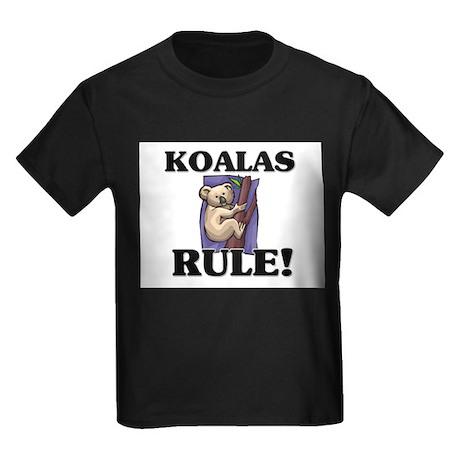 Koalas Rule! Kids Dark T-Shirt