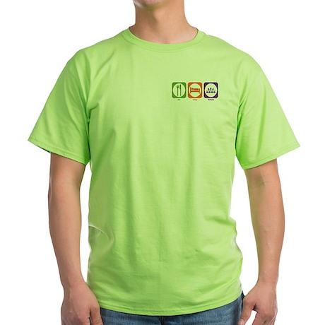 Eat Sleep Debate Green T-Shirt