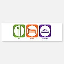 Eat Sleep Debate Bumper Bumper Bumper Sticker