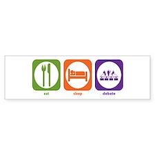 Eat Sleep Debate Bumper Bumper Sticker