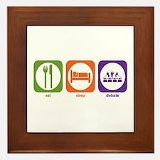 Eat Sleep Debate Framed Tile