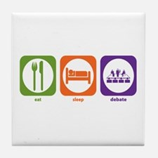 Eat Sleep Debate Tile Coaster