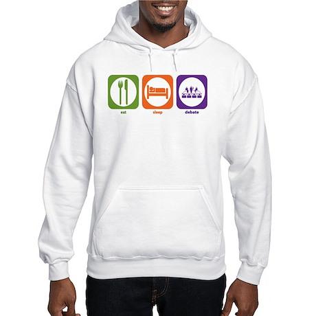 Eat Sleep Debate Hooded Sweatshirt
