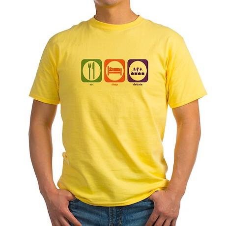 Eat Sleep Debate Yellow T-Shirt