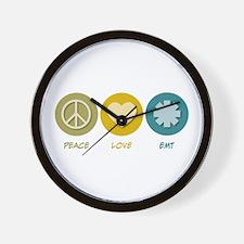 Peace Love EMT Wall Clock