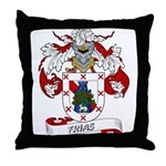 Frias Family Crest Throw Pillow
