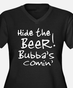 Hide the Beer Bubba's Comin' Women's Plus Size V-N