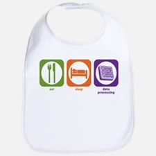 Eat Sleep Data Processing Bib