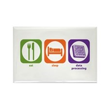 Eat Sleep Data Processing Rectangle Magnet (100 pa