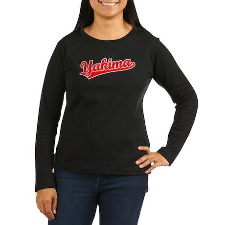 Retro Yakima (Red) Women's Long Sleeve Dark T-Shir
