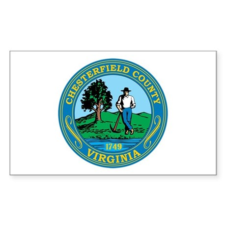 CHESTERFIELD-COUNTY-SEAL Rectangle Sticker