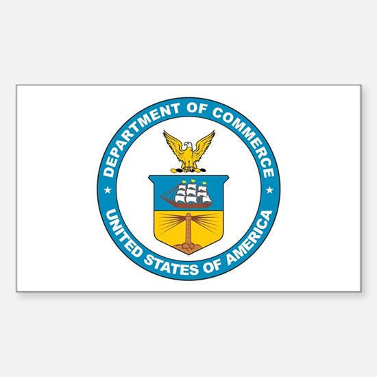DEPARTMENT-OF-COMMERCE-SEAL Rectangle Decal