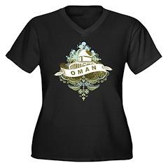 Mosque Oman Women's Plus Size V-Neck Dark T-Shirt