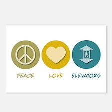Peace Love Elevators Postcards (Package of 8)
