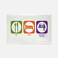 Eat Sleep Customer Service Rectangle Magnet