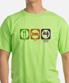 Eat Sleep Customer Service T-Shirt