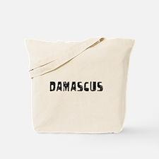 Damascus Faded (Black) Tote Bag