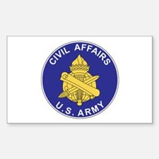 CIVIL-AFFAIRS Rectangle Decal