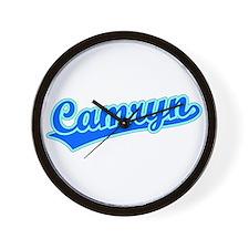 Retro Camryn (Blue) Wall Clock