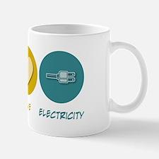 Peace Love Electricity Mug