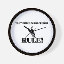 Ivory-Billed Woodpeckers Rule! Wall Clock