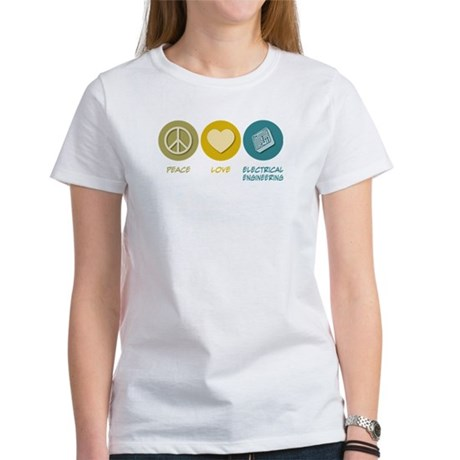 Peace Love Electrical Engineering Women's T-Shirt