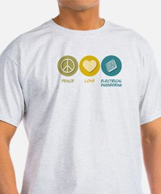Peace Love Electrical Engineering T-Shirt