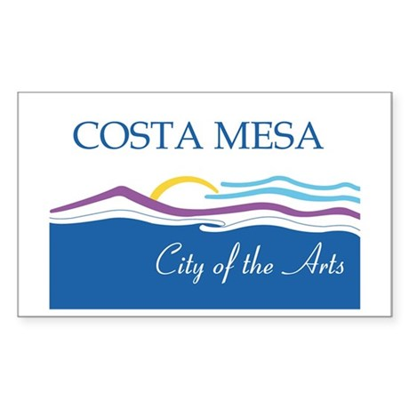 COSTA-MESA Rectangle Sticker