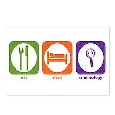 Eat Sleep Criminology Postcards (Package of 8)