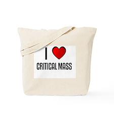I LOVE CRITICAL MASS Tote Bag