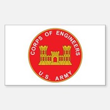 ENGINEERS-CORPS Rectangle Decal