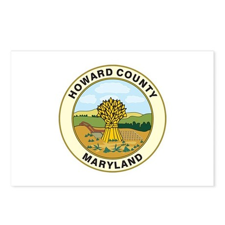 HOWARD-COUNTY-SEAL Postcards (Package of 8)