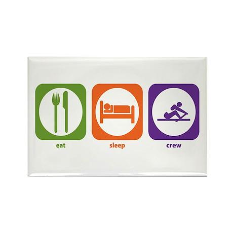 Eat Sleep Crew Rectangle Magnet