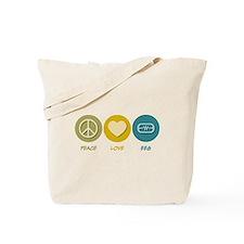 Peace Love EEG Tote Bag